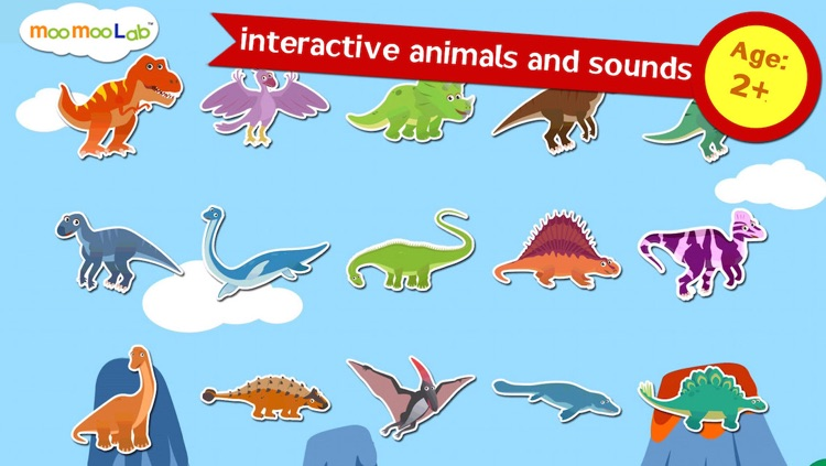 Dinosaur Sounds, Puzzles and Activities for Toddler and Preschool Kids by Moo Moo Lab