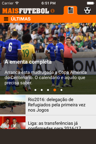 Maisfutebol screenshot 1