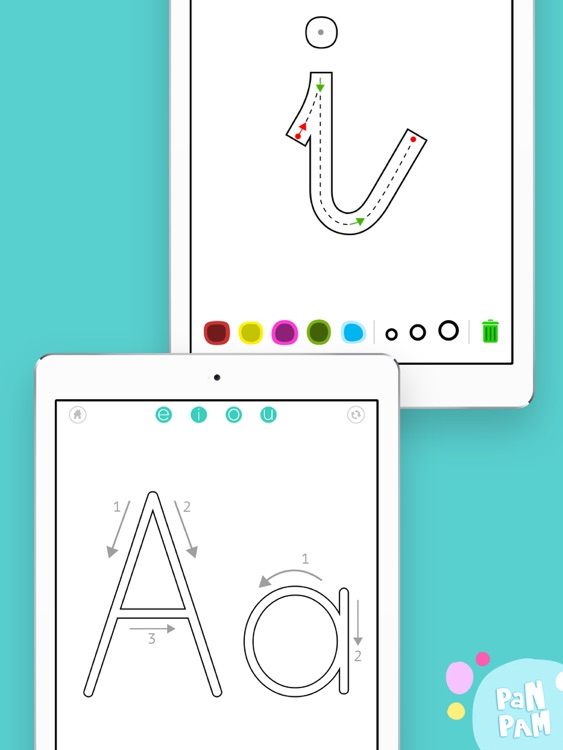 Learn to read and write the vowels in Spanish - Preschool learning games screenshot-3