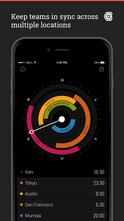 Circa - World Time and Meeting Planner for Travelers! screenshot-0