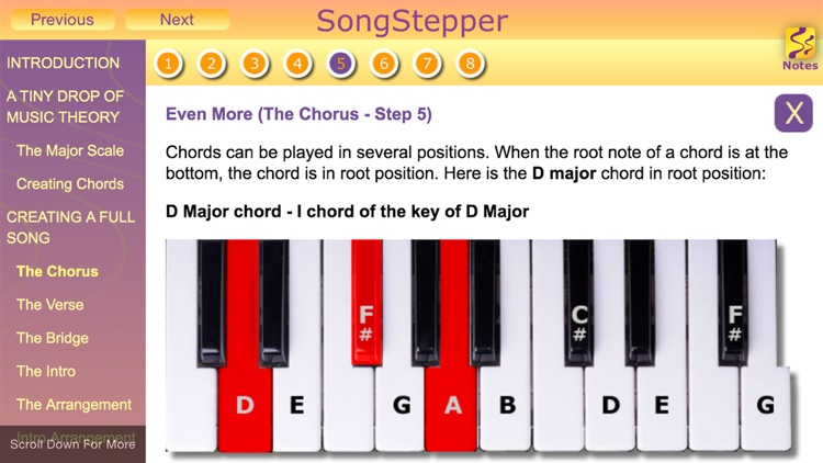 SongStepper Pro - Song Writing Made Easy