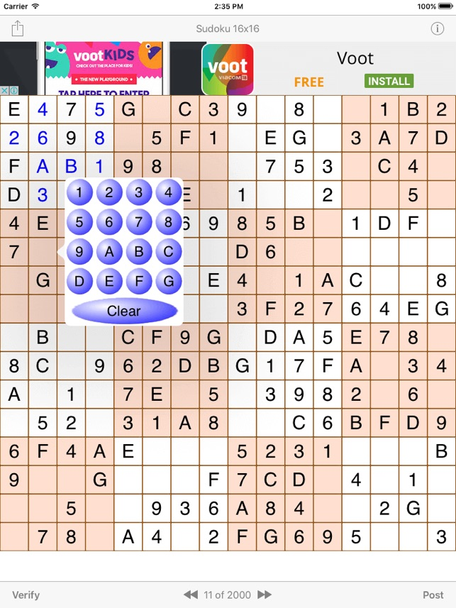 Sudoku 16x16 Game on the App Store