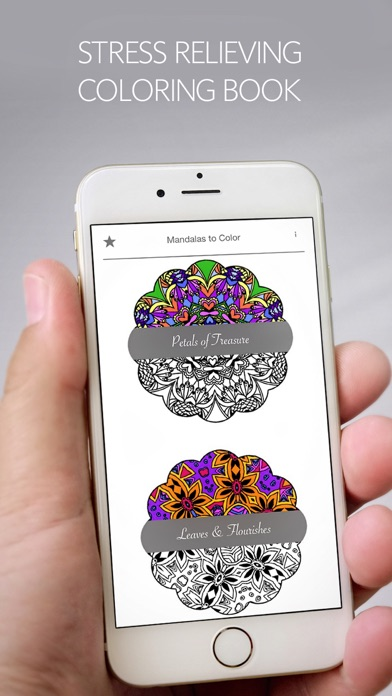 Mandalas to Color - Stress Relievers Relaxation Techniques Coloring Book for AdultsScreenshot of 2