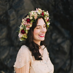 Lady with Flower crown - Flower crown photo montage with your lovely pose