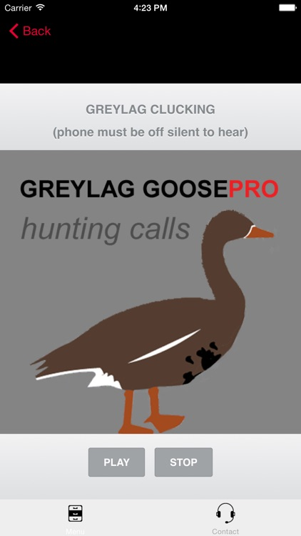 REAL Greylag Goose Hunting Calls & Greylag Goose CALLS & Greylag Goose Sounds! - BLUETOOTH COMPATIBLE screenshot-3