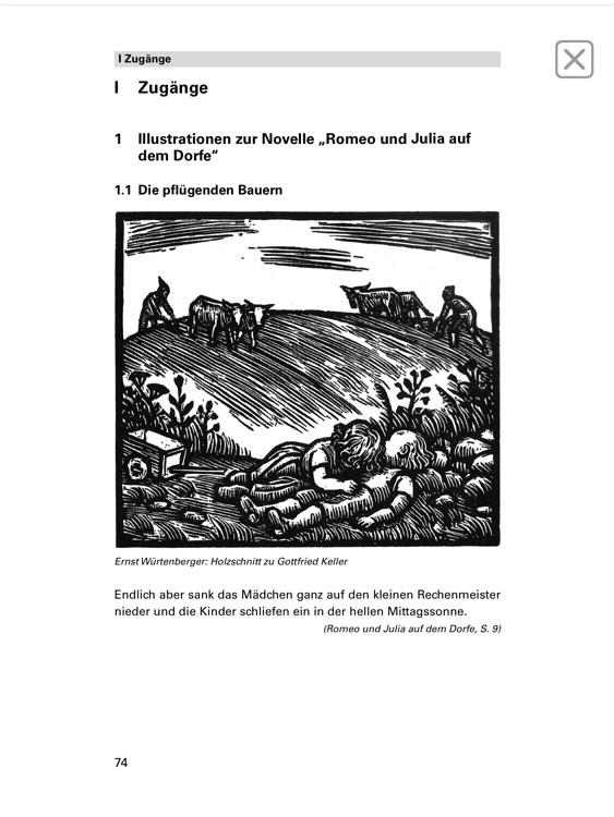 Romeo und Julia auf dem Dorfe -  Edition.Hörbuch  Deutsch-Lektüren zum Lesen und Hören von Klett für Oberstufe und Abitur mit Zusatzmaterialien screenshot-4