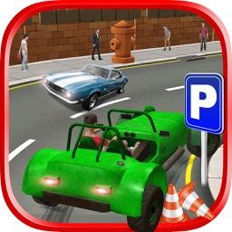 Crazy Girl Car Parking 3D Game