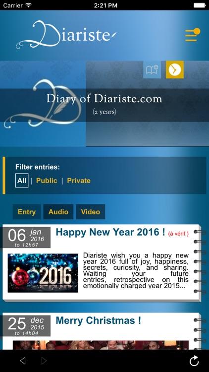 Diariste.com - Diary, Personal journal screenshot-3
