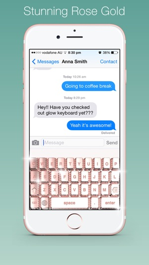 Bling My Keyboard Rose Gold Diamond Gold Keyboards On The App Store