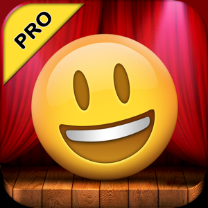 Talking Emoji Pro - Send Video Texting Emoticons using Voice Changer and Dash Emoji Geometry Stick Game app