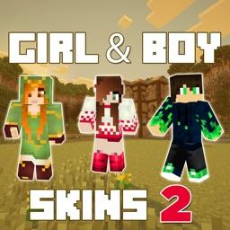 New Girl & Boy Skins - Free Skins for Minecraft Pocket Edition