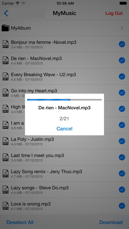 Music Player & MP3 Manager for Dropbox
