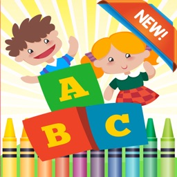 ABC Coloring Book: learn spanish coloring pages preschool games free for kids and toddler any age