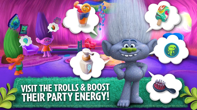 Trolls: Crazy Party Forest! screenshot-1
