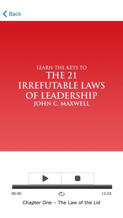 The 21 Irrefutable Laws Of Leadership Meditation screenshot-3