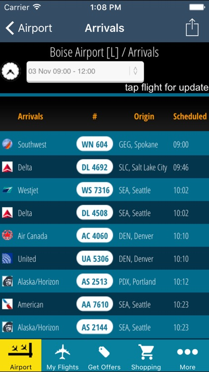 Boise Airport Pro (BOI) + Flight Tracker screenshot-2