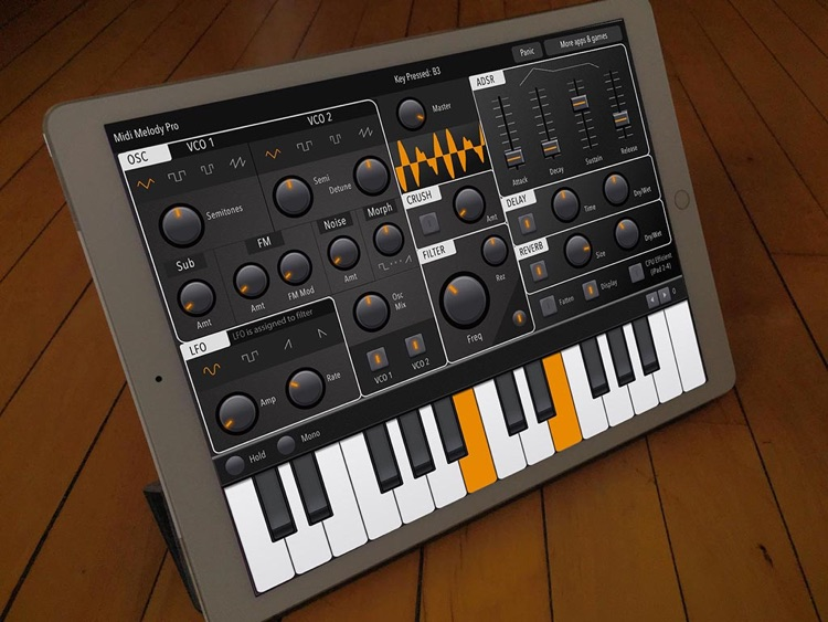 Midi Melody Pro: Full-featured iPad synthesizer screenshot-2