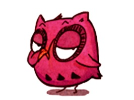 Interesting Owl - Animated Stickers And Emoticons