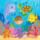 Sea Animals Puzzle Toddlers Learning Games icon