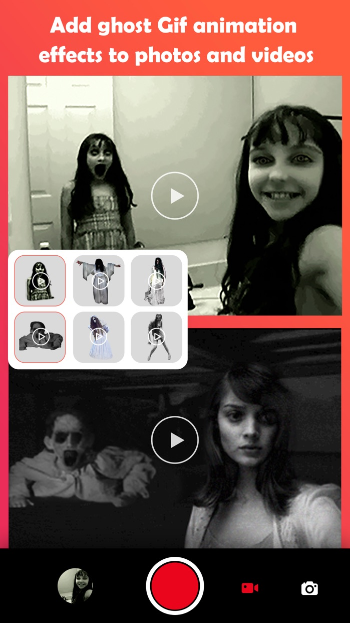 Ghost Lens+Scary Photo Video Edit&Collage Maker Screenshot