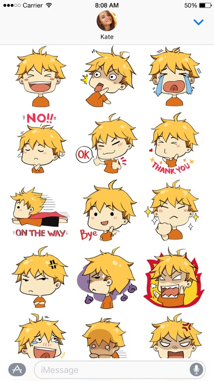 Hiroki stickers ~ the boy with golden hair