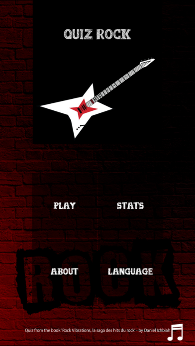 Rock Quizz screenshot one