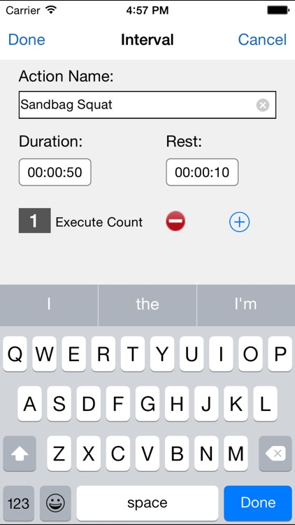 Flexible Interval Timer for Training & Workouts