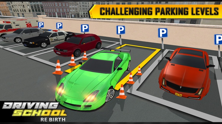 City Traffic Car Driving School Rebirth 2017 screenshot-4