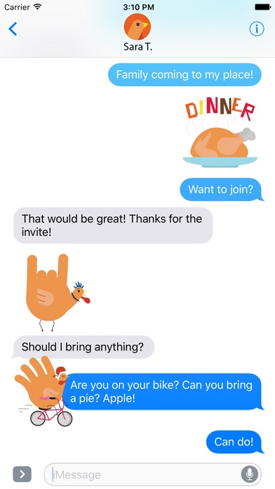 download Hand Turkey Stickers apps 2