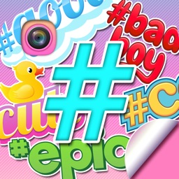 Hashtag Stickers for Pictures Selfie Photo Editor