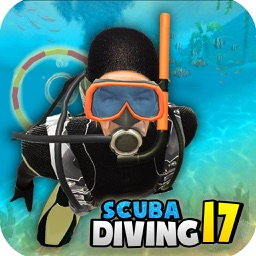 Scuba Diving Fun - Swim with sharks in deep sea 3D