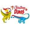 Christmas Dinos Big Eye Collection 顔文字