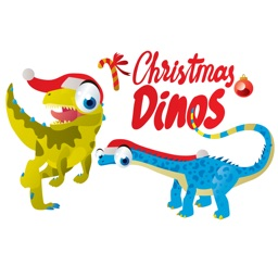 Christmas Dinos Big Eye Collection Stickers Mania