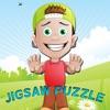 拼图男孩拼图学习游戏为孩子4岁