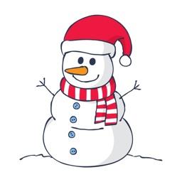 Snowman Emoji - Christmas Snowman Stickers