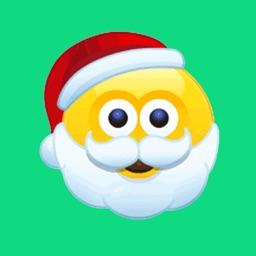Christmas Animated Stickers Pack Santa Emojis