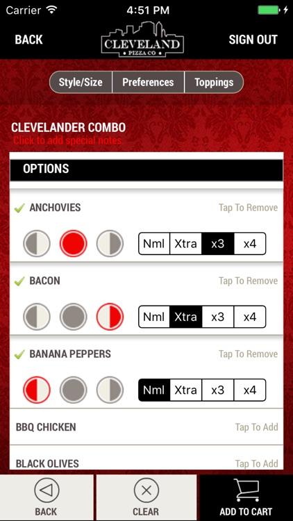Cleveland Pizza Co. screenshot-3