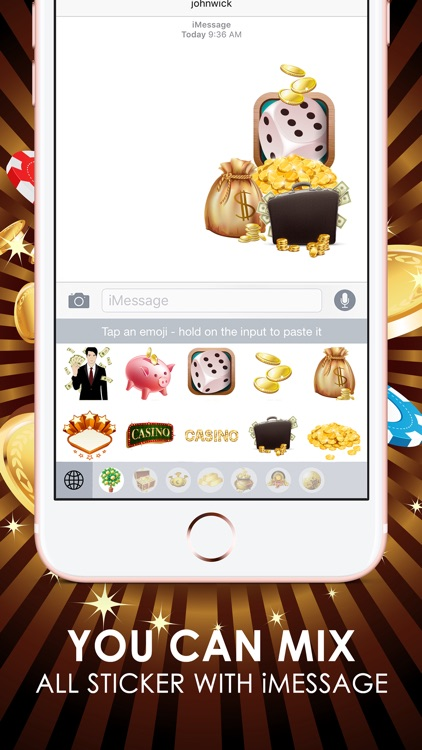 Casino Emoji Stickers Keyboard Themes ChatStick