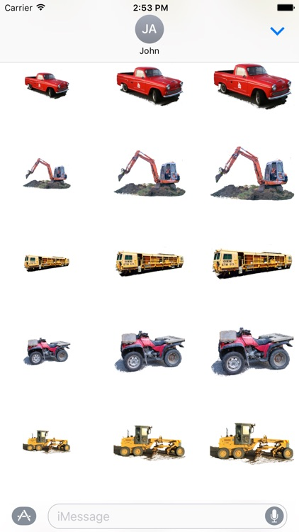 Car Truck Digger Stickers screenshot-3
