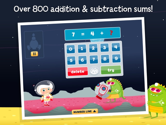 Astro Nora: Addition & Subtraction maths on the App Store