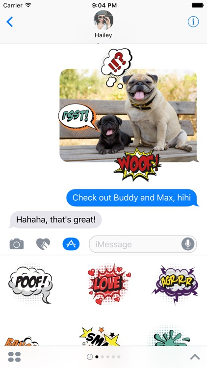 Comic Text Stickers for iMessage