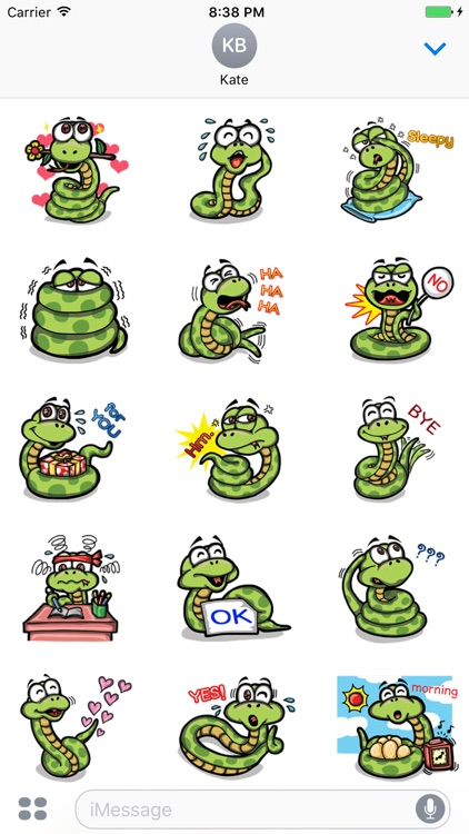 Funny Snake - Cute stickers for iMessage