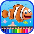Sea Animals Coloring Book For Kids Toddlers icon