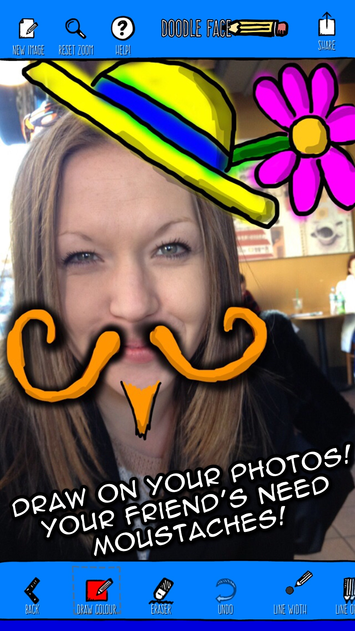Doodle Face! Draw something silly on your photos! Screenshot