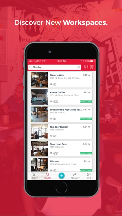 Workfrom - find great workspaces & wifi anywhere.