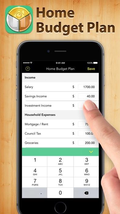 Home Budget Plan Screenshot on iOS