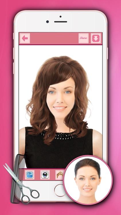 HairStyle Makeover For Girls - Hair Salon Editor screenshot-3