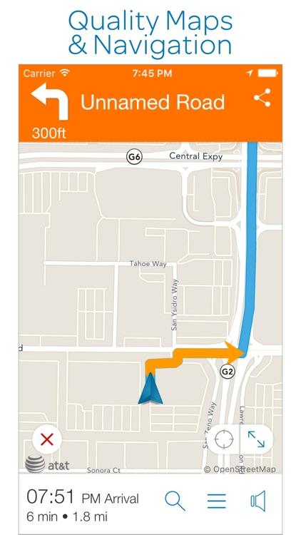 AT&T Navigator: GPS Maps, Navigation & Traffic screenshot-3