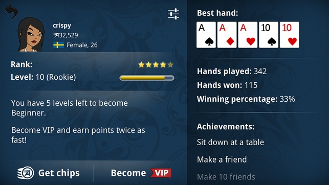 Holdem hand values