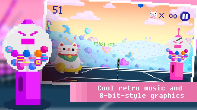 Candy Cat Tennis - Pixel Training